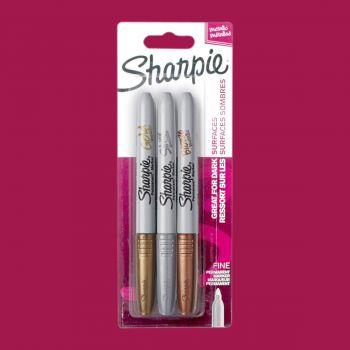 Sharpie  Metalik Markör Permanent 3'lü