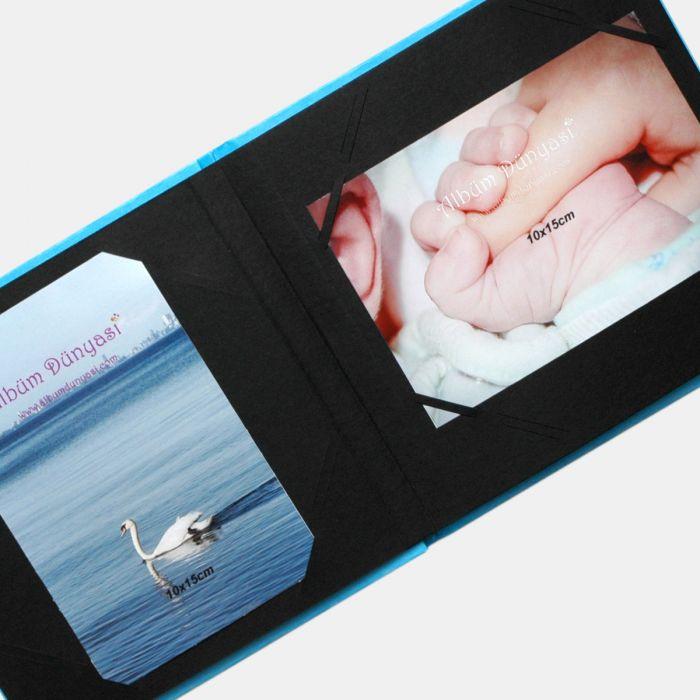 Kare Fotoğraf Albümü BABY Mavi